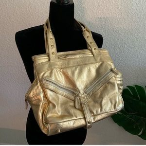 Botkier Leather Metallic  Shoulder Bag
